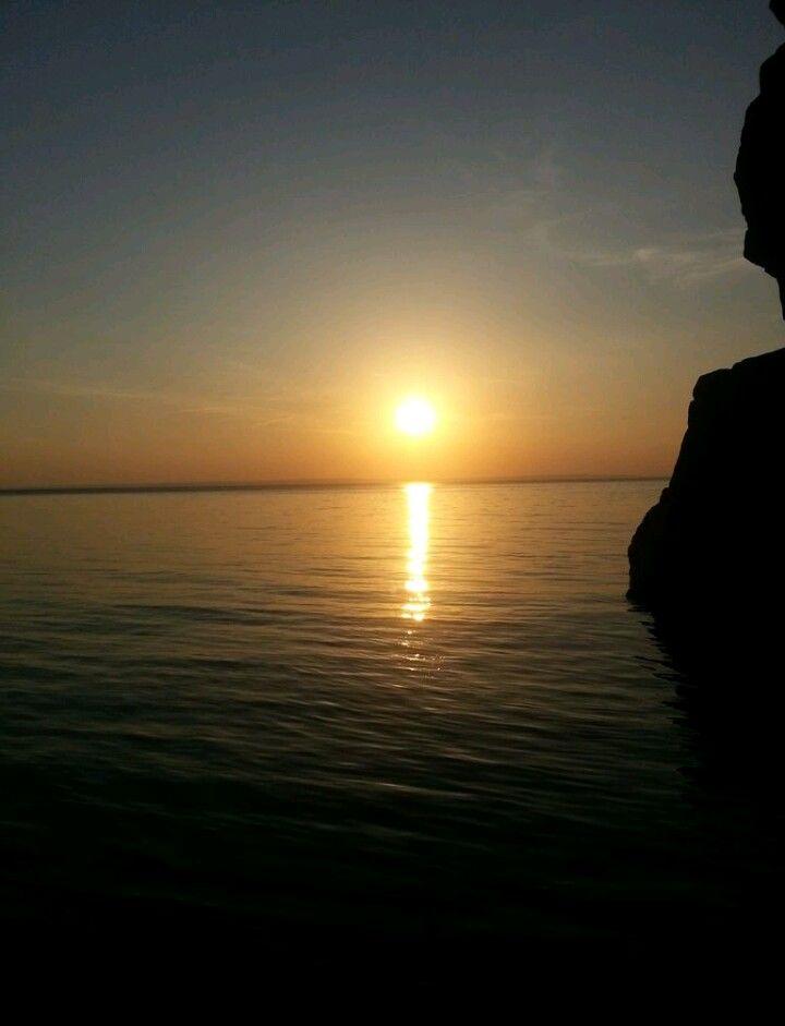 Sunset at Vättern.