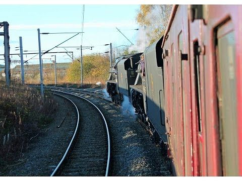 On board BR 44871 & 45407 on 5Z93 Crewe Basford Hall Triangle turning move 22nd November 2014 - 34 mins 14 secs