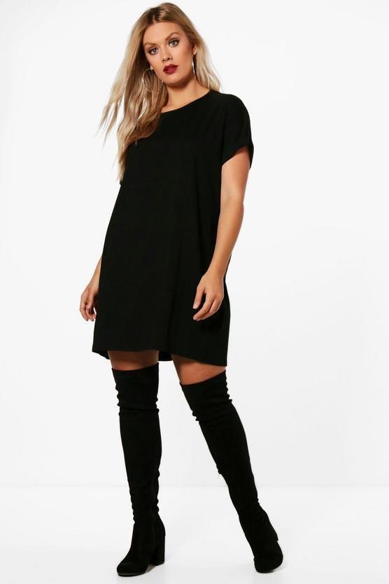 362a0889c3728 Plus Oversized Roll Up T-Shirt Dress   Dressed Up   Shirts, Shirt ...