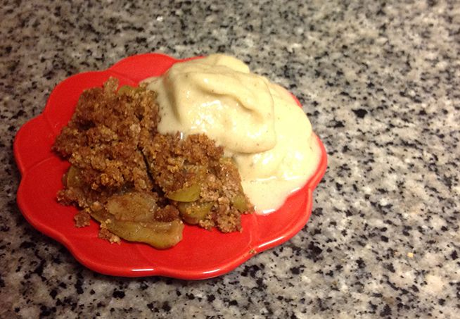 apple crumble with ginger ice cream organic maple syrup ginger ice ...