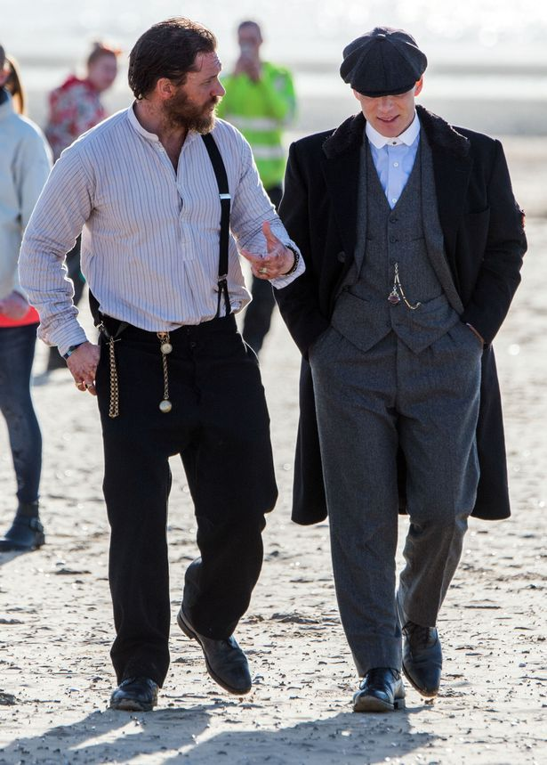Tom Hardy and Cillian Murphy spotted filming Peaky Blinders on Formby Beach - Liverpool Echo