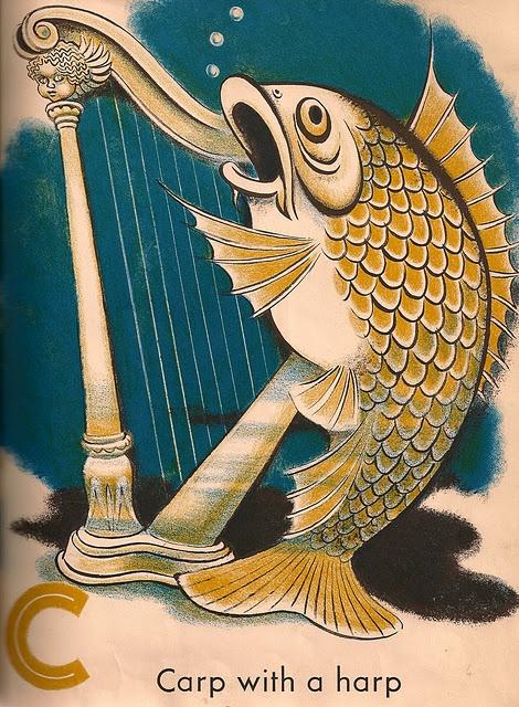 Carp with a harp.