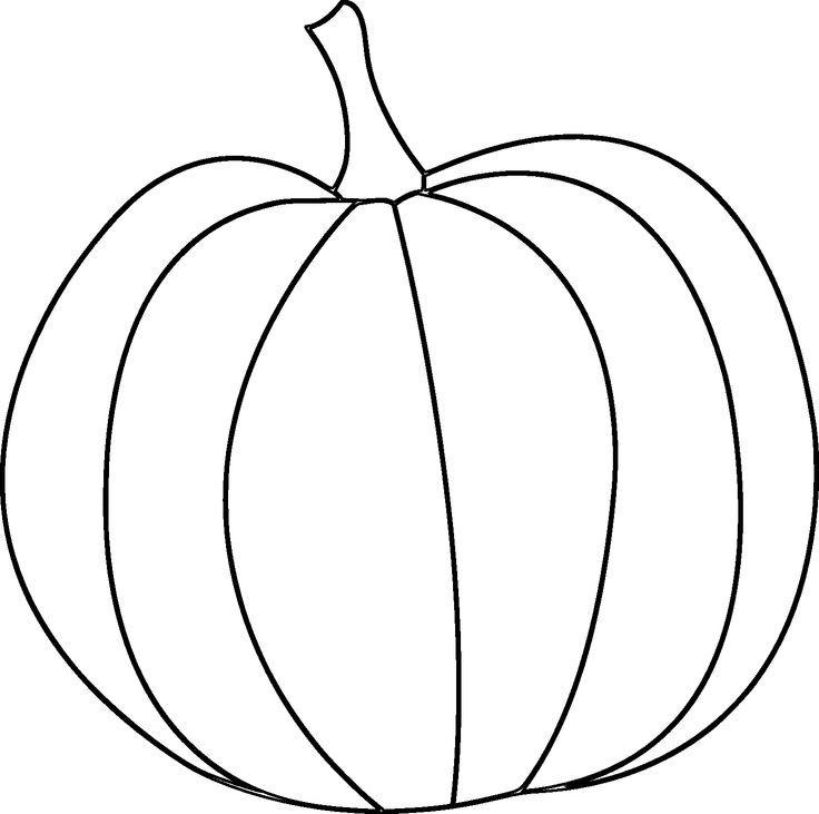 pumpkin template printable free | Simple Pumpkin - Digital Stamp Grab: