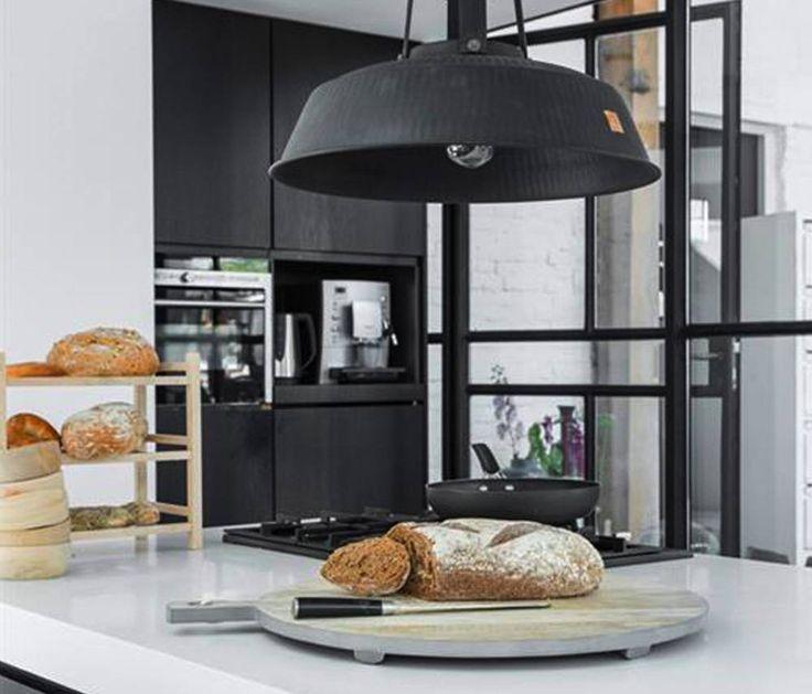 HK living lamp 'Workshop' XL rustiek mat zwart - tutze.nl