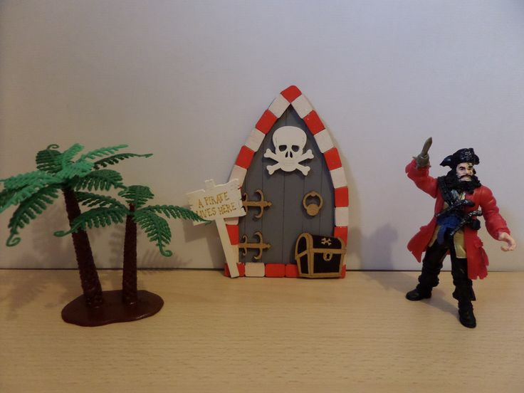 Hand painted Wooden Pirate Door Perfect gift for any little boy to create a little magic Availiableto purchase on Ebay or from https://www.facebook.com/elegantfancies
