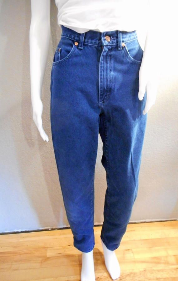6d6ae1bd2c327 Vintage Lee jeans   waist 28 bright dyed blue mom jeans 90s jeans ...