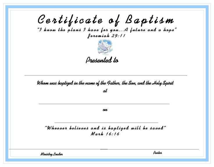 10 best Church Certificates images on Pinterest Free printable - baby dedication certificates templates