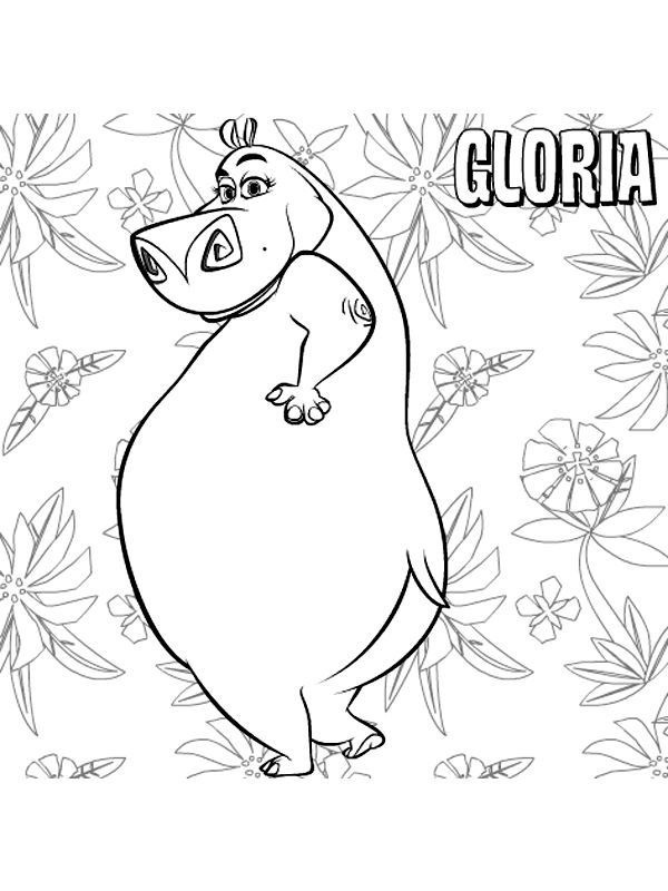 madagascar 999 coloring pages