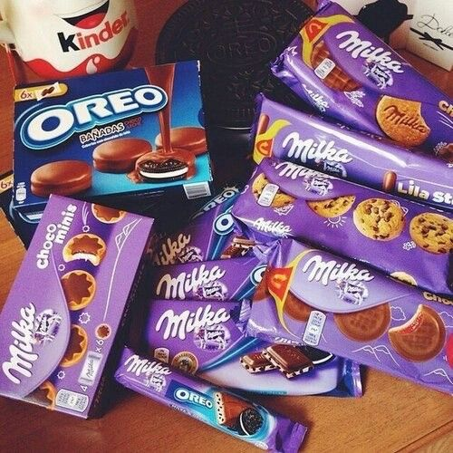 Milka chocolate  Oreo cookies