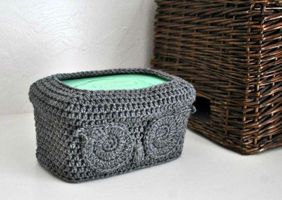 Owl Baby Wipes Box Cover Woodland Nursery by AandBDesignStudio