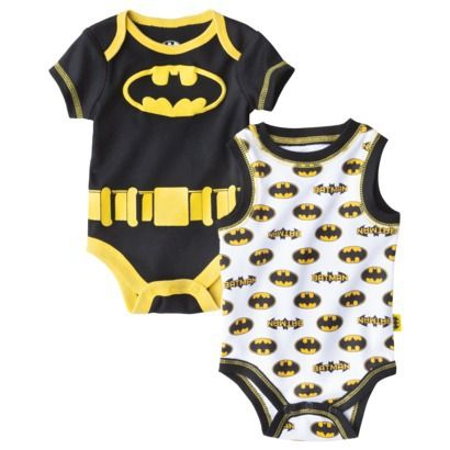 Batman® Newbor Boys' 2 Pack Bodysuit - Black