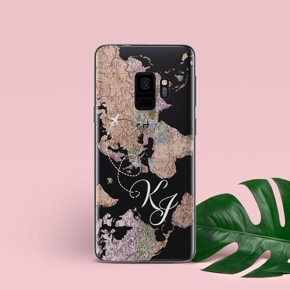 Monogram Samsung S10e Case Samsung S10 Plus Case Travel Samsung Galaxy S9 Clear Case World Map Samsung Samsung Cases Case