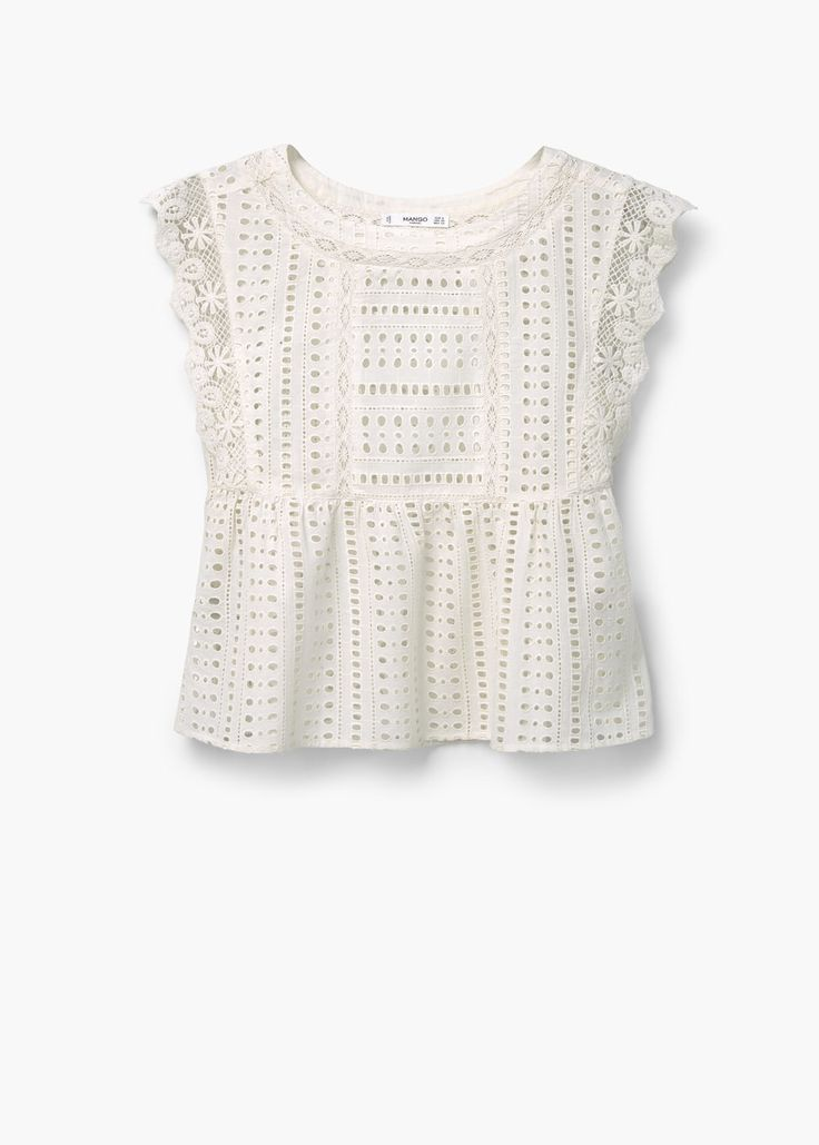 Openwork cotton top