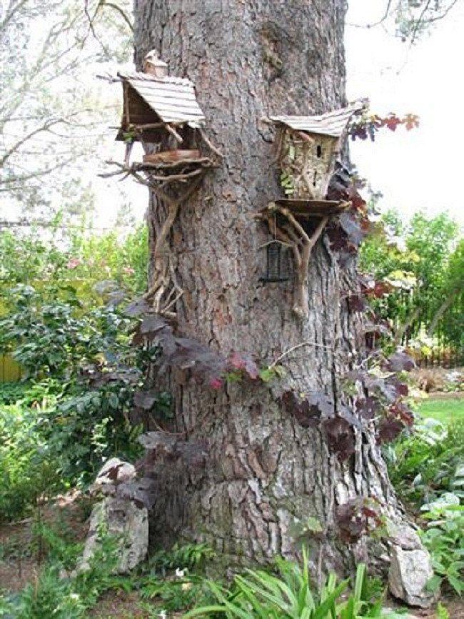 fairy houses   Fairy Birdhouses by Lynne Blackman, www.fairywoodland.com