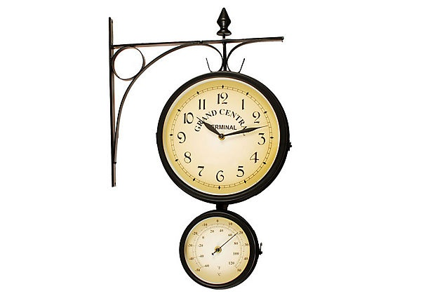 clock and thermometer