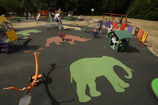 African designs enhancing the play area and imaginations of Harlow Town Park @Essex_CC