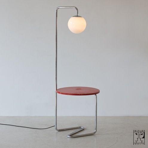 Bauhaus arc lamp with integrated table - ZEITLOS – BERLIN