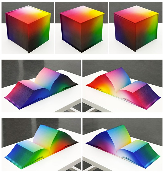 RGB Colorspace Atlas Depicts Every Color Imaginable by Tauba Auerbach via Colossal