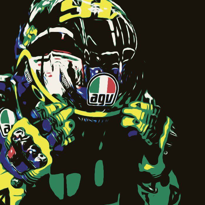 Valentino Rossi edit made with SuperPhoto. Original Photo: http://rossihelmets.com/valentino-rossi-yellow-energy-helmet-mugello-2015/
