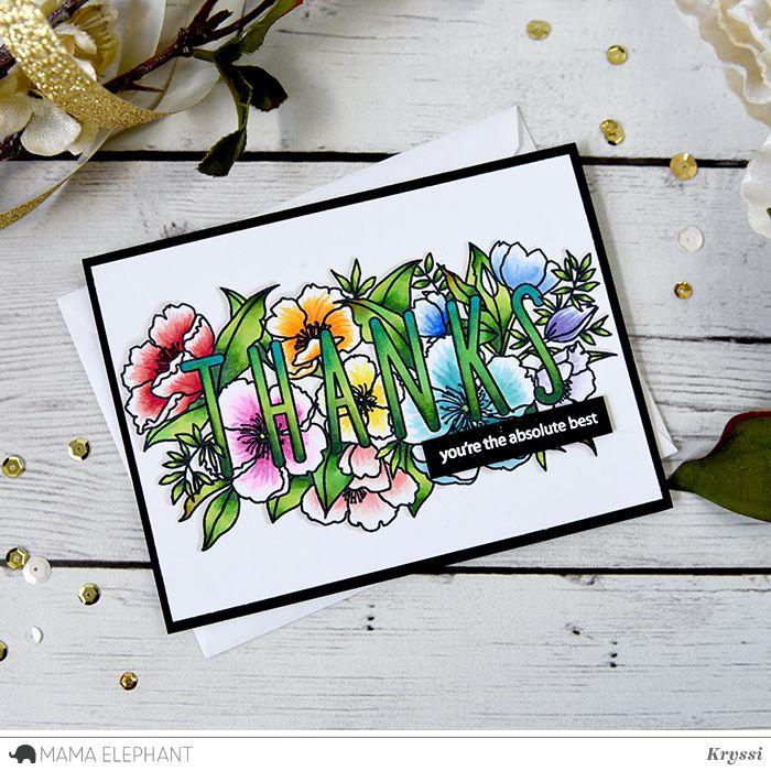 mama elephant   design blog: INTRODUCING: Botanic Thanks
