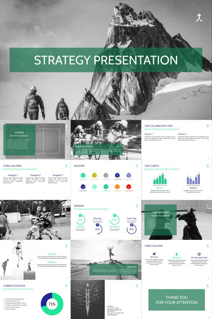 Have A Look At This Template To Present Your Strategy At Its Best Presentation Business Template Presentation Presentation Templates Templates