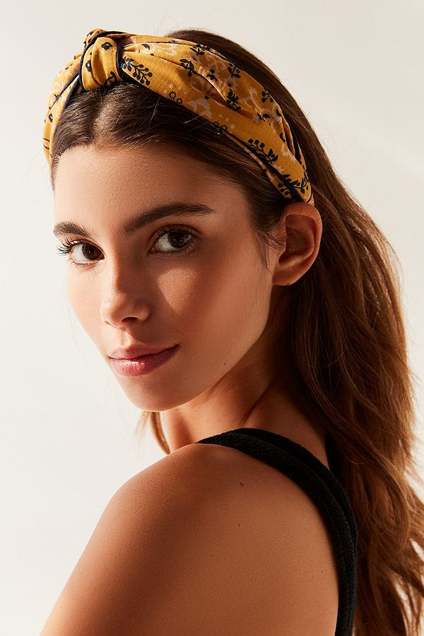I Love This Mustard Floral Top Knot Headband It S Perfect For Summer Hair Styles Ad Hair Hairband T Headband Hairstyles Top Knot Headbands Diy Hairstyles