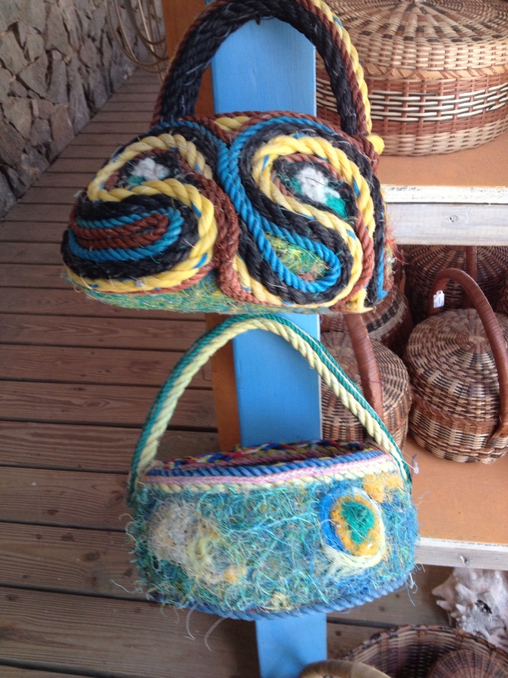 Bec posts for April 2013 - bags made with used boat ropes #reuse #GS2013