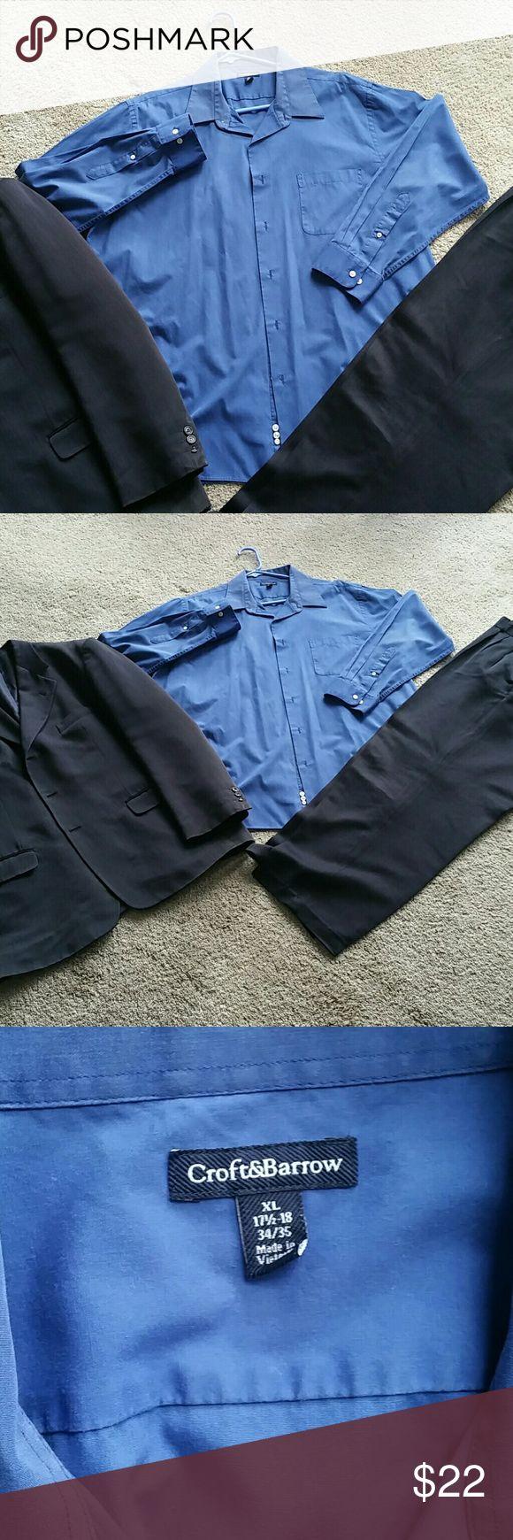 Men's Royal Blue Dress Shirt Croft & Barrow Bundle 3+ items and $ave! croft & barrow Shirts Dress Shirts