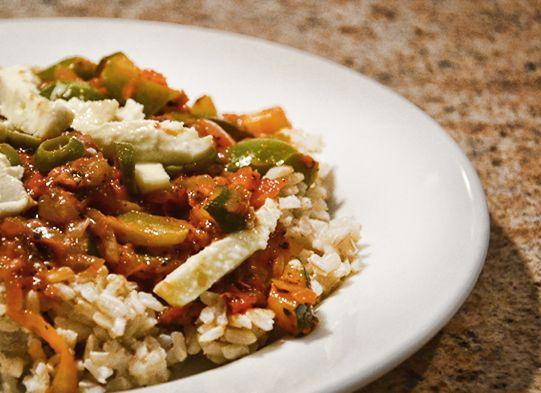 Ryż naturalny z warzywami i mozarellą