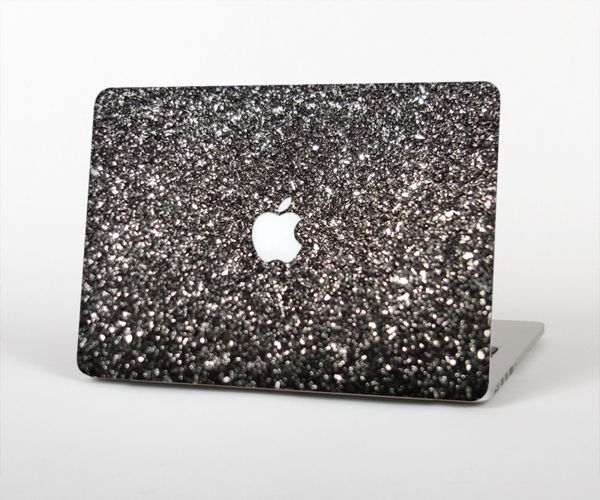 """The Black Unfocused Sparkle Skin Set for the Apple MacBook Pro 15"""" with Retina Display"""