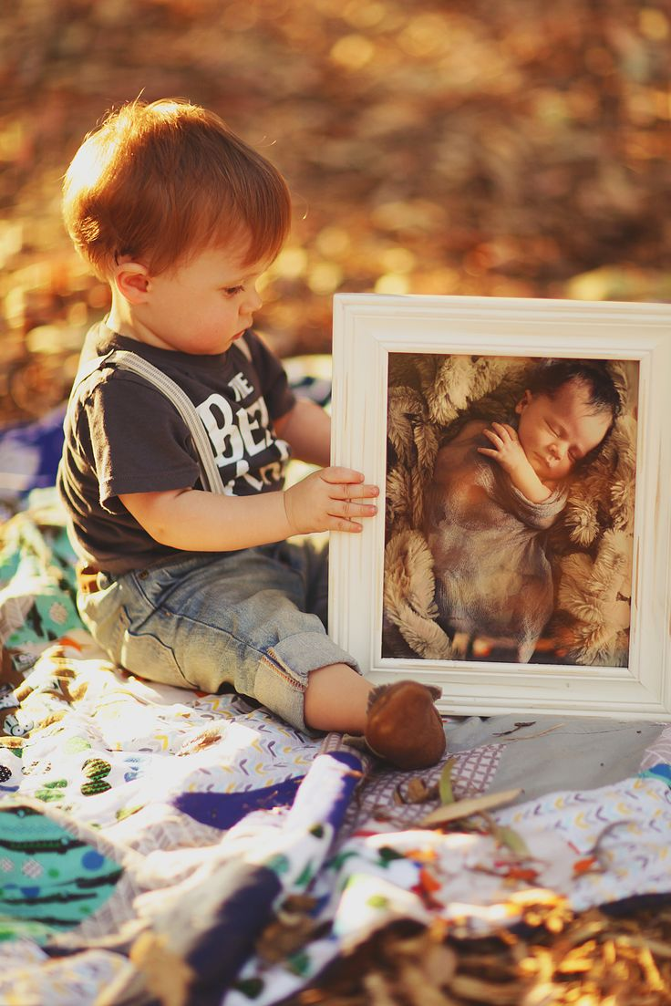 Then and Now, newborn photo, one year old photo idea, MadeYouLookPhotography