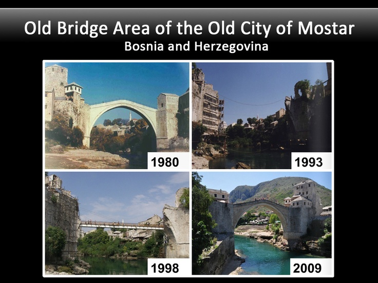 When the historic Old Bridge in Mostar was destroyed during war in 1993, UNESCO helped oversee the reconstruction of this important symbol of peace & cooperation.