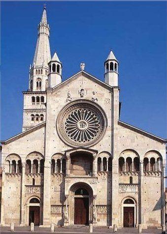 Cattedrale di San Geminiano, veduta della facciata, 1099 ...