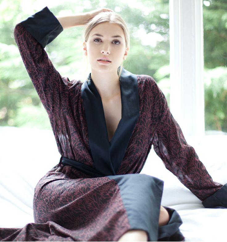 Derek Rose Lucia Ladies Kimono Dressing Gown