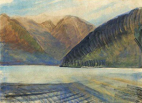 Coast Mountains, 1933. Emily Carr. All Pemberton trip pieces are unsigned, owing to her dissatisfaction with them.