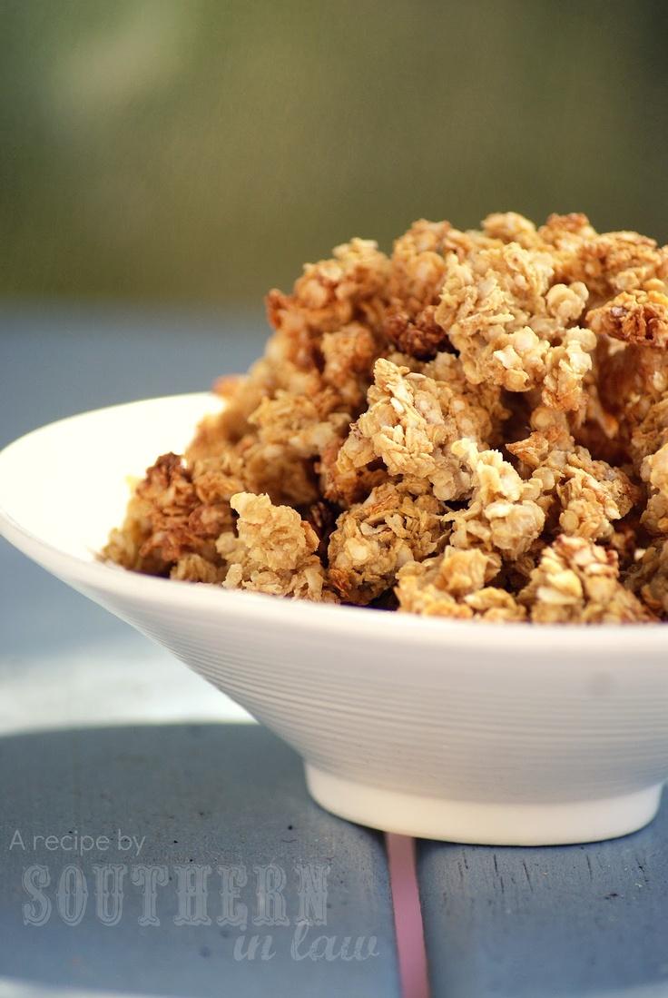 Southern In-Law: Recipe: Basic Quinoa Flake Granola