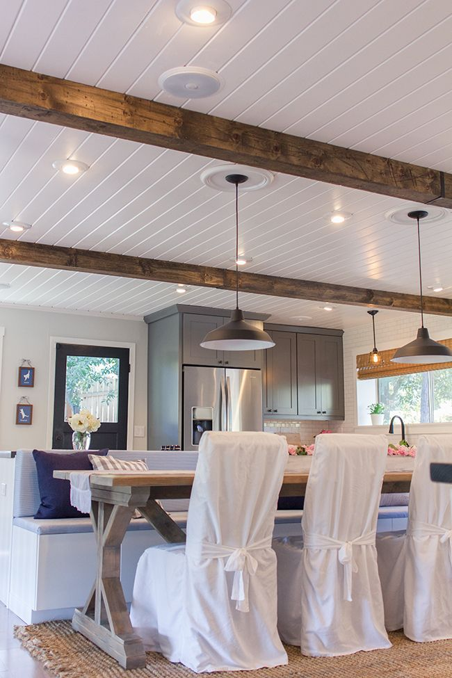 25 great ideas about plank ceiling on pinterest ceiling for Faux wood ceiling planks