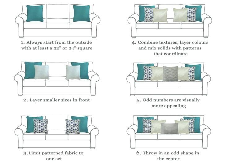 design standard couch cushion size