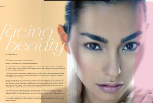 Hair & Makeup by Wendy Rorong for the Spring/Summer 2012 issue of S / Style & Fashion Magazine.  www.plutinogroup.com