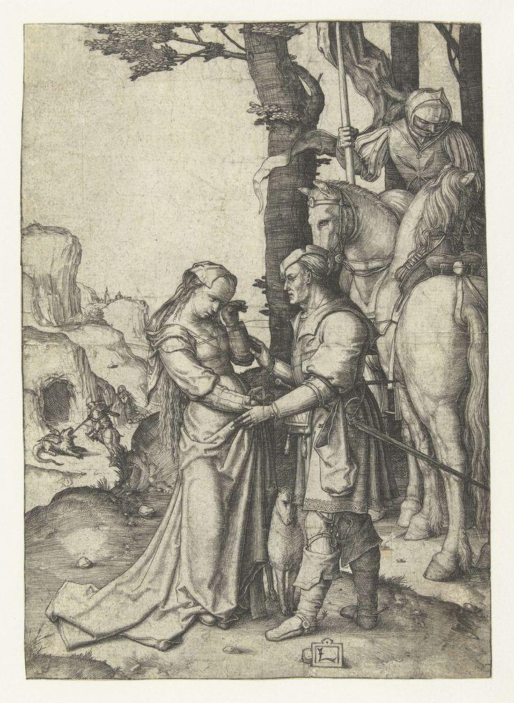 De heilige Joris en de prinses, Lucas van Leyden, 1506 - 1510