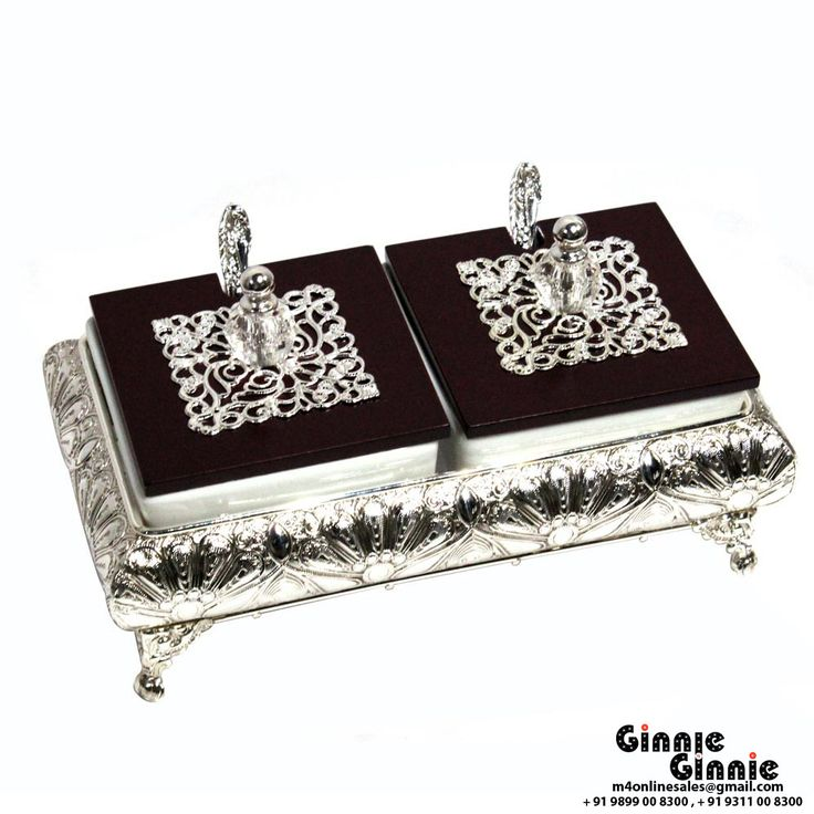 This Ginnie & Ginnie Exclusive Mint Bowl set is a product from our Kitchen & Dinning Improvement Collection. It is made of Alloy and it got Silver Lacquer Coating finish on it. Its approx LxWxH is 9x5x4 inches. It is of approx 1030 grams. Unique Code of this product is M400401.09
