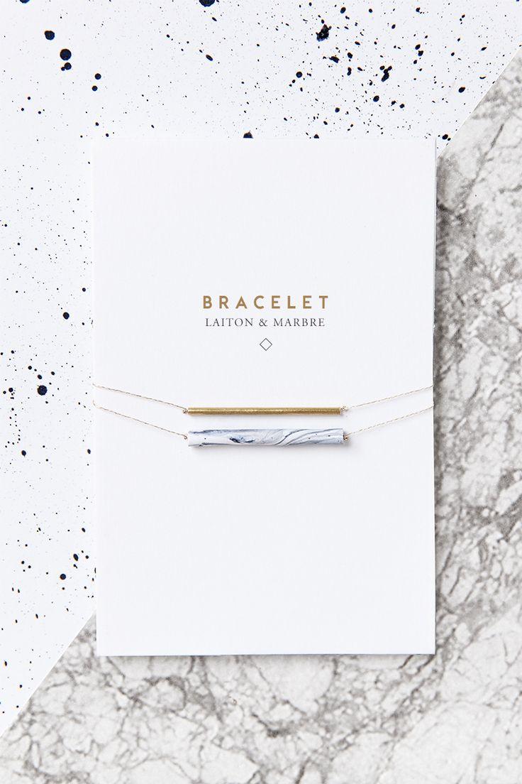 diy bijou laiton/marbre