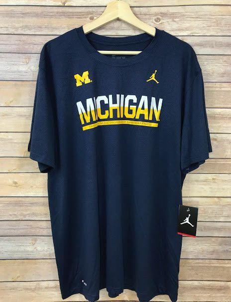 a4c35694 New Jordan Michigan Wolverines The Nike Tee Dri Fit Mens Shirt Size XXL  NCAA NWT #Nike #MichiganWolverines