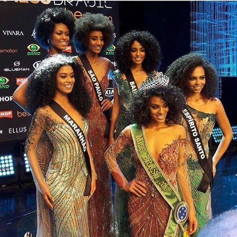 Natural Hair - Brasil - Miss Brasil 2016  #hair #miss #raissasantana