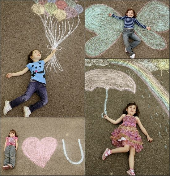 Heel veel plezier met krijt en een camera. #kinderen #fotografie #inspiratie