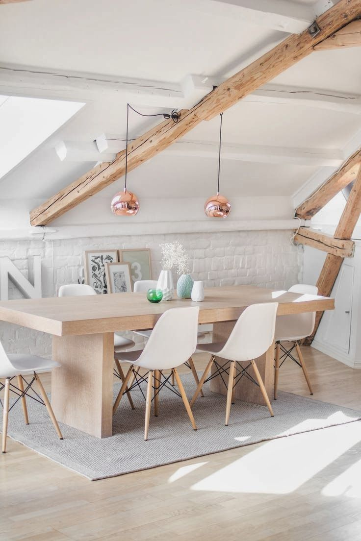Pendant lights can hang down from any type of surface, even when your roof is slanted. Absolutely perfect!  Check out http://shelights.com.au for Pendant Lights