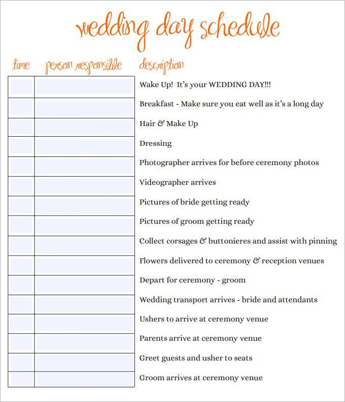 Pin By Spanish Style On Commitment Wedding Day Schedule Wedding