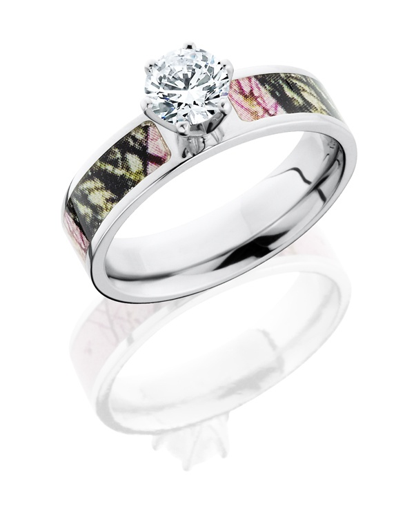 pink camo wedding rings pink camo wedding bands are popular among your american women who are looking for something different the stone or diamond is real - Camo Wedding Ring Sets His And Hers