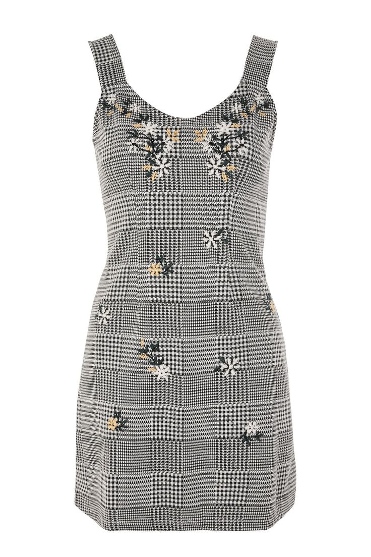 PETITE Gingham Pinafore Dress