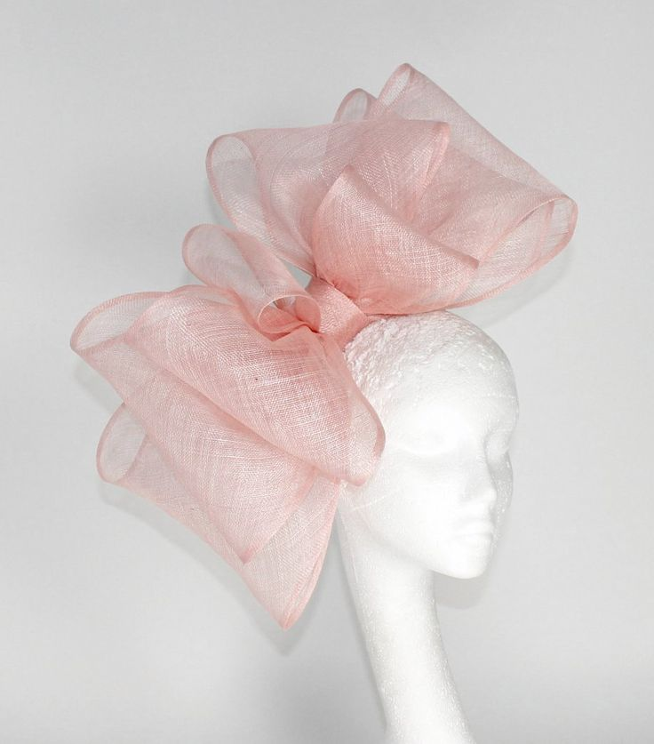 #Pink #Fascinator #Hat #Bow for Kentucky Derby